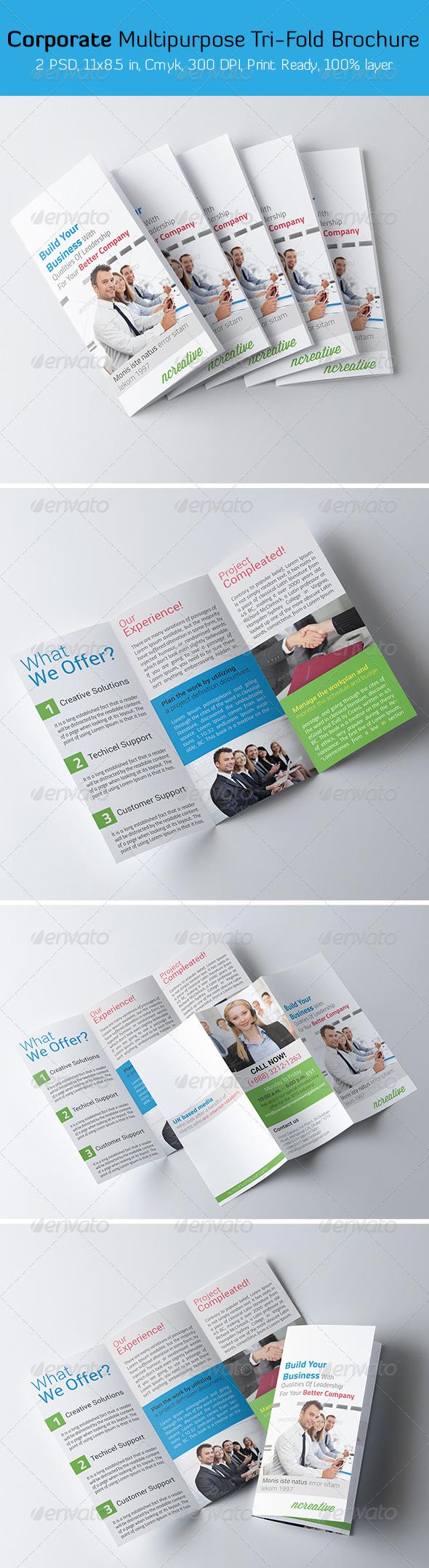 GraphicRiver Corporate Multipurpose Tri-fold Brochure 6490656