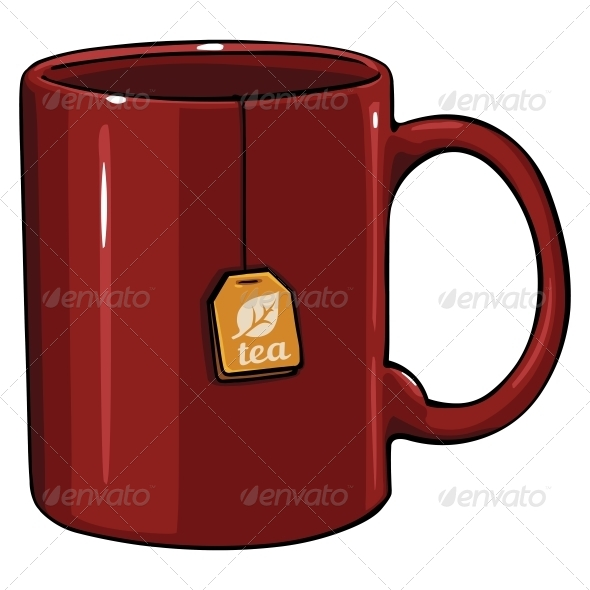 GraphicRiver Cartoon Mug with Tea Bag 6513860