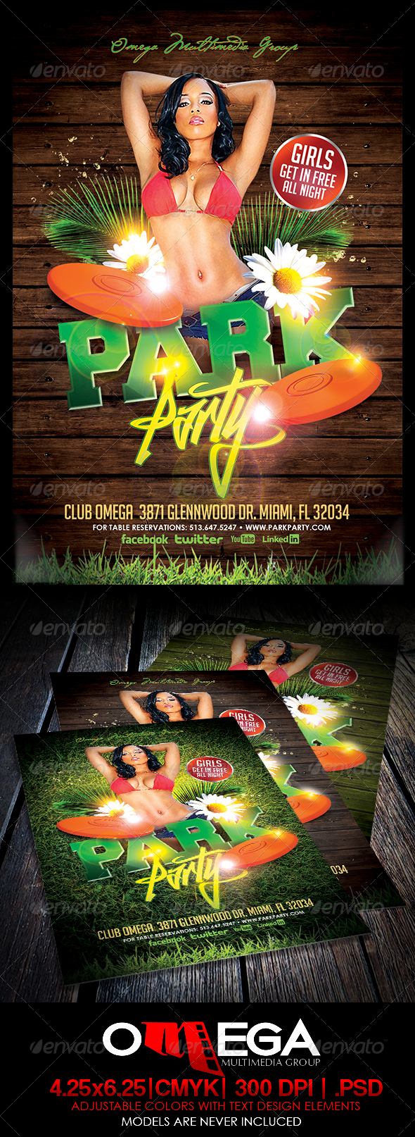 Park Party - Events Flyers