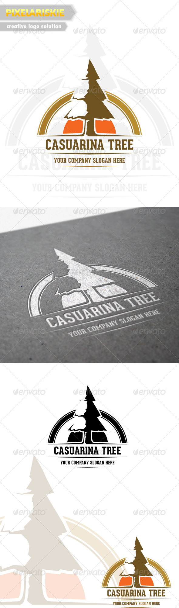 GraphicRiver Casuarina Tree Logo 6514135