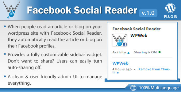 CodeCanyon Facebook Social Reader WordPress Plugin 6514168