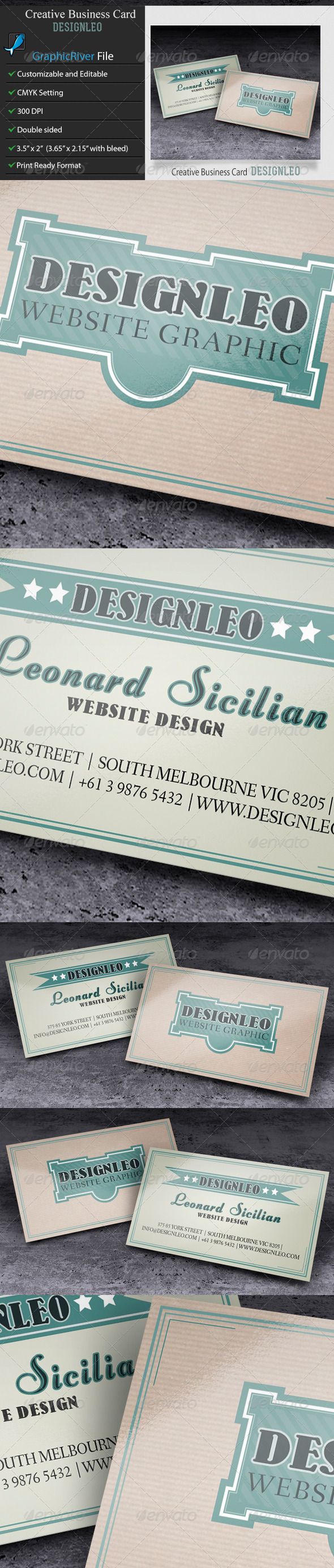 GraphicRiver Business Card-DesignLeo 6489912