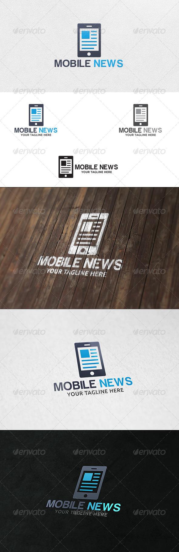 GraphicRiver Mobile News Logo Template 6514686