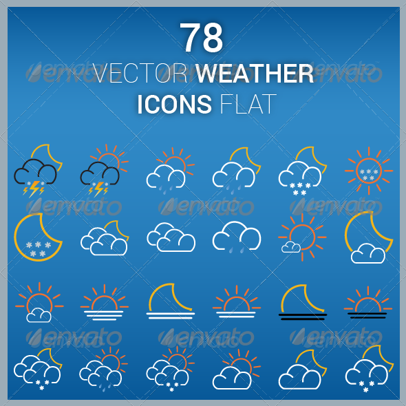 GraphicRiver Vector Icons Weather Flat 6514741