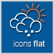Vector Icons Weather Flat - GraphicRiver Item for Sale