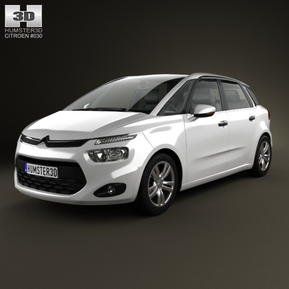 citroen c4 picasso 2014 by humster3d 3docean. Black Bedroom Furniture Sets. Home Design Ideas