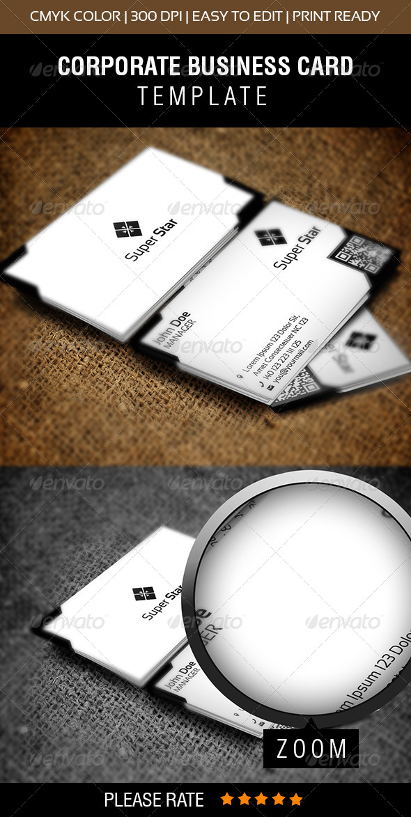 GraphicRiver Super Star Business Card 6514931