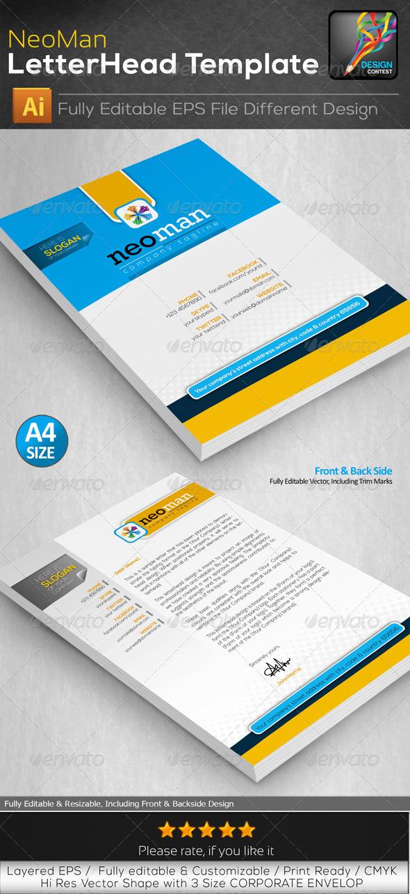GraphicRiver NeoMan Corporate Letterhead Print Template Design 6514983