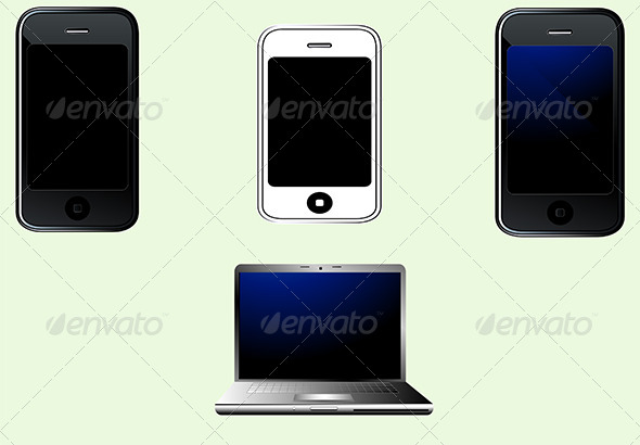 GraphicRiver Realistic Smart Phones and Laptop Set 6515013