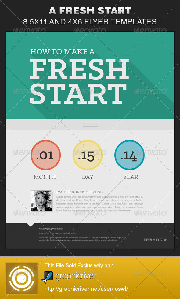 GraphicRiver A Fresh Start Church Flyer Template 6515141