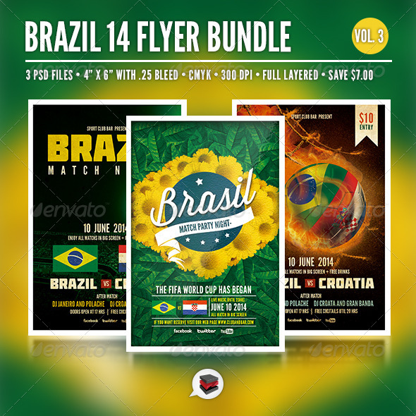 GraphicRiver Brazil 14 Flyer Bundle Vol 3 6515195