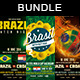 Soccer Brazil 14 Flyer Bundle Vol. 3 - GraphicRiver Item for Sale
