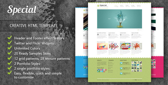 ThemeForest Special Neat Creative Portfolio HTML Template 639129