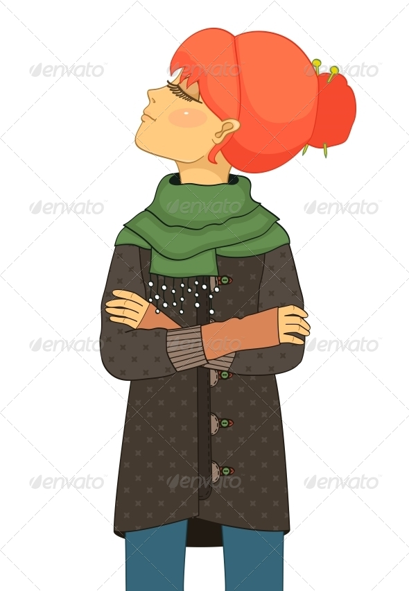 GraphicRiver Haughty Girl with Head Up 6515239