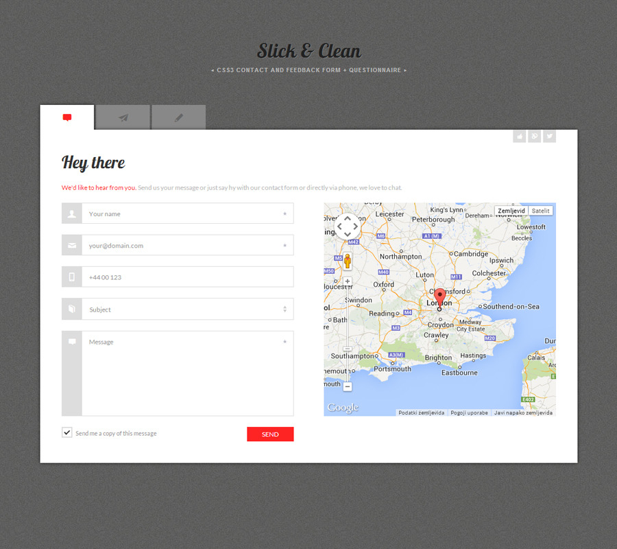 Slick & Clean - HTML5 and CSS3 Responsive Forms