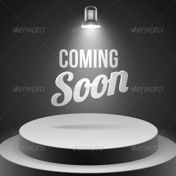 GraphicRiver Coming Soon Message Illuminated with Stage Light 6515282
