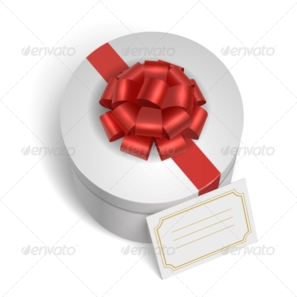 GraphicRiver Classic Gift Box with Red Ribbon and Bow 6515335