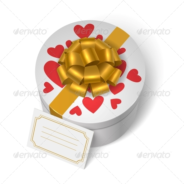 GraphicRiver Valentines Present Box with Red Hearts 6515337