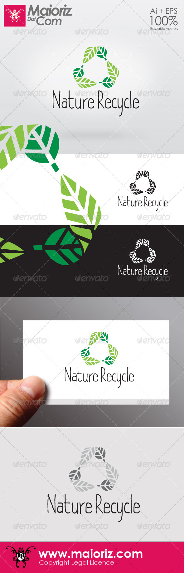 GraphicRiver Nature Recycle Logotype 6515416