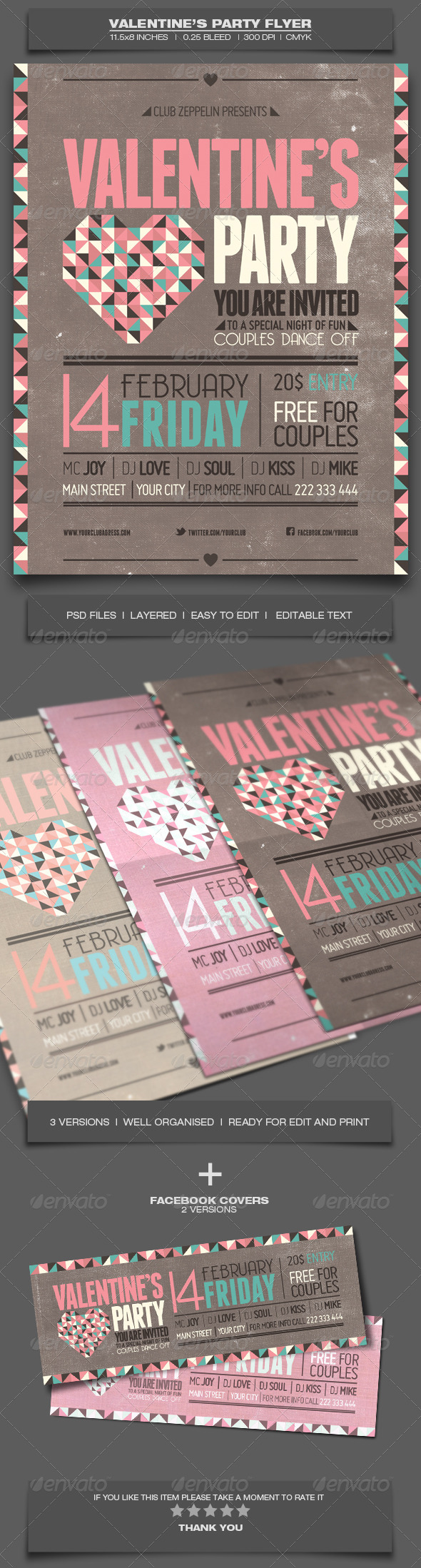 GraphicRiver Valentine s Day Party Event Flyer Template 5 6515495