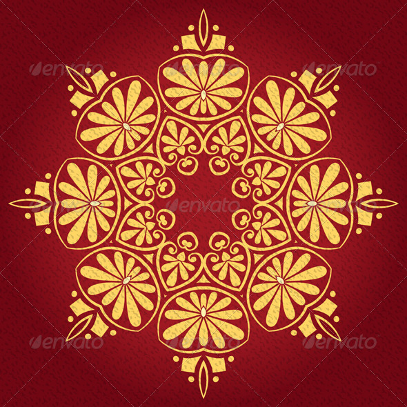 GraphicRiver Vector Vintage Elegant Lace Gold Ornament 6515735