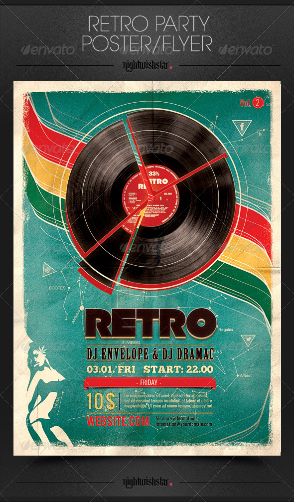 GraphicRiver Retro Party Flyer Poster 6515737
