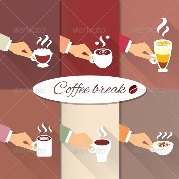 GraphicRiver Business Hands Offering Hot Coffee Drinks 6515764