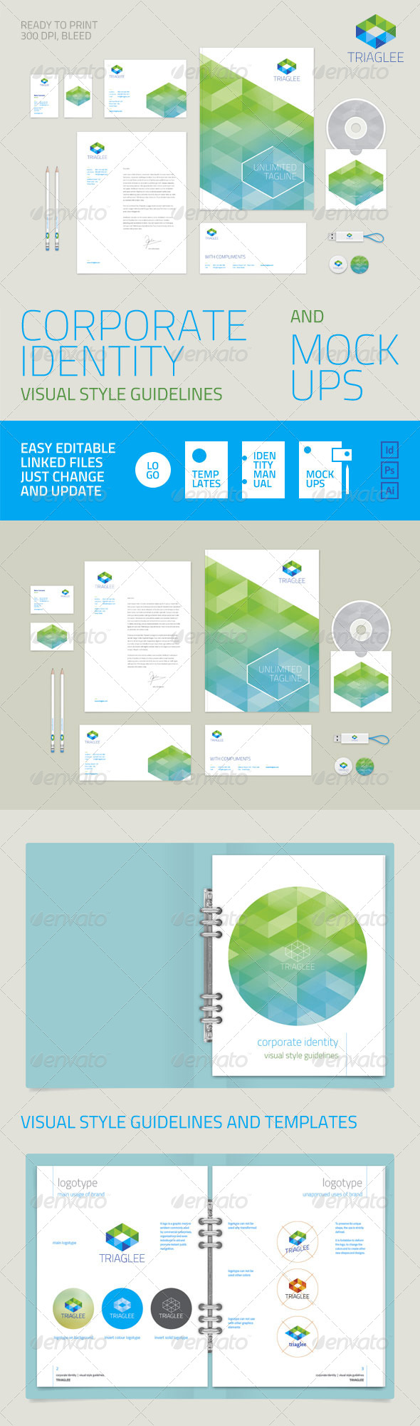 GraphicRiver Corporate Identity Guidelines and Mock-ups 6515875