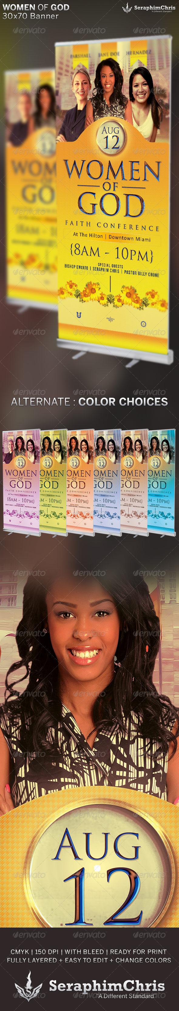 GraphicRiver Women of God Church Banner Template 6515906