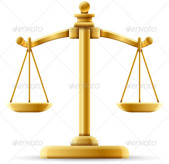 GraphicRiver Balanced Justice Scale 6515918
