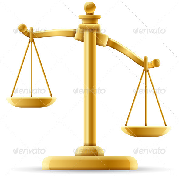 GraphicRiver Unbalanced Scale of Justice 6515959