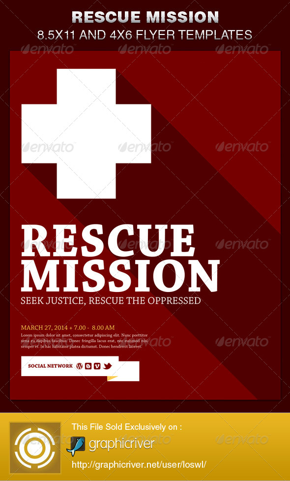 GraphicRiver Rescue Mission Church Flyer Template 6515973