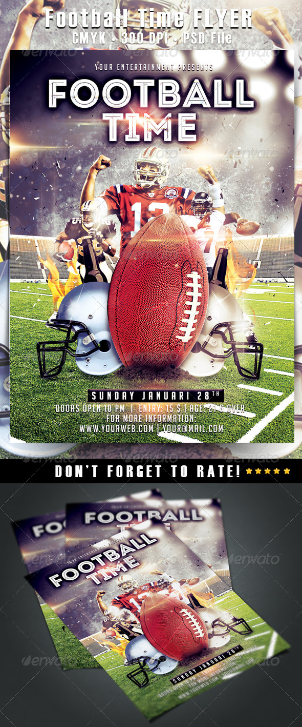 GraphicRiver Football Time Flyer 6516120