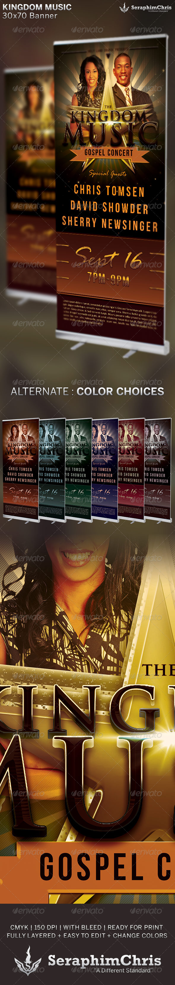 GraphicRiver Kingdom Music Church Banner Template 6516125