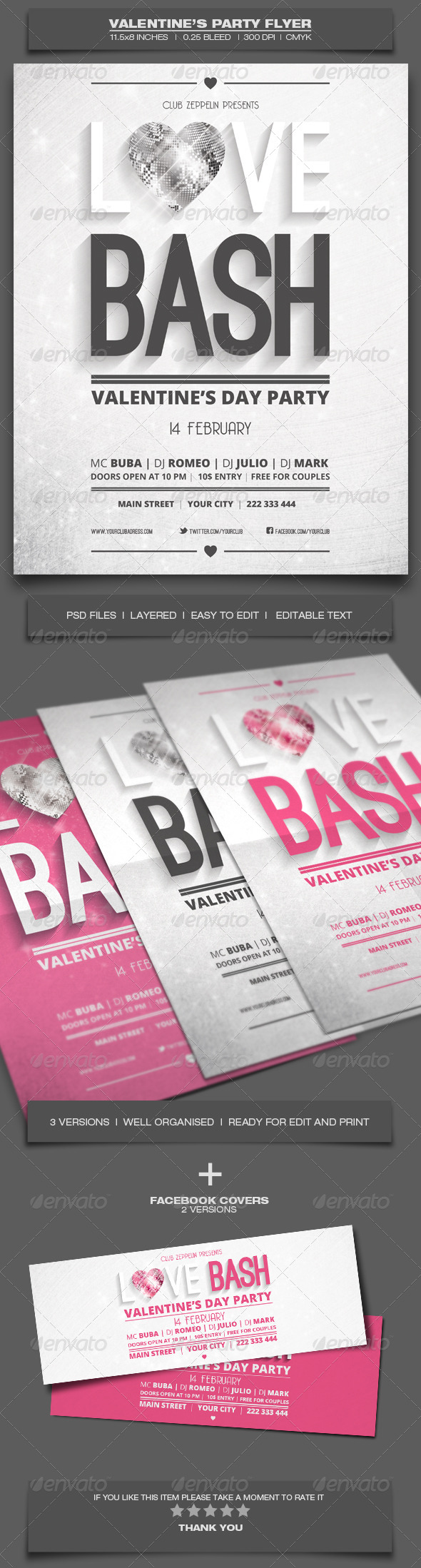 GraphicRiver Valentine s Day Party Event Flyer Template 6 6516171