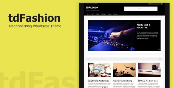 ThemeForest tdFashion WordPress Theme 6516181