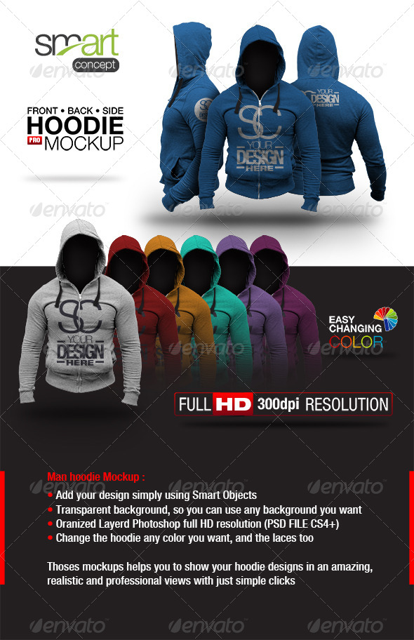 GraphicRiver Hoodie Mock up 6516502