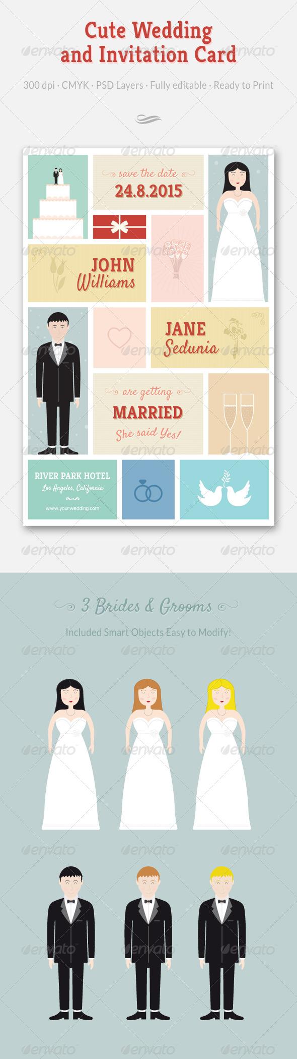 GraphicRiver Wedding and Invitation Card 6516702