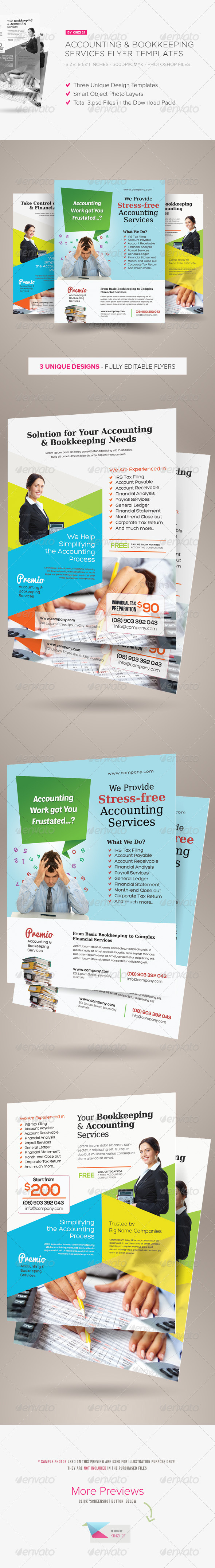 GraphicRiver Accounting and Bookkeeping Services Flyers 6516706