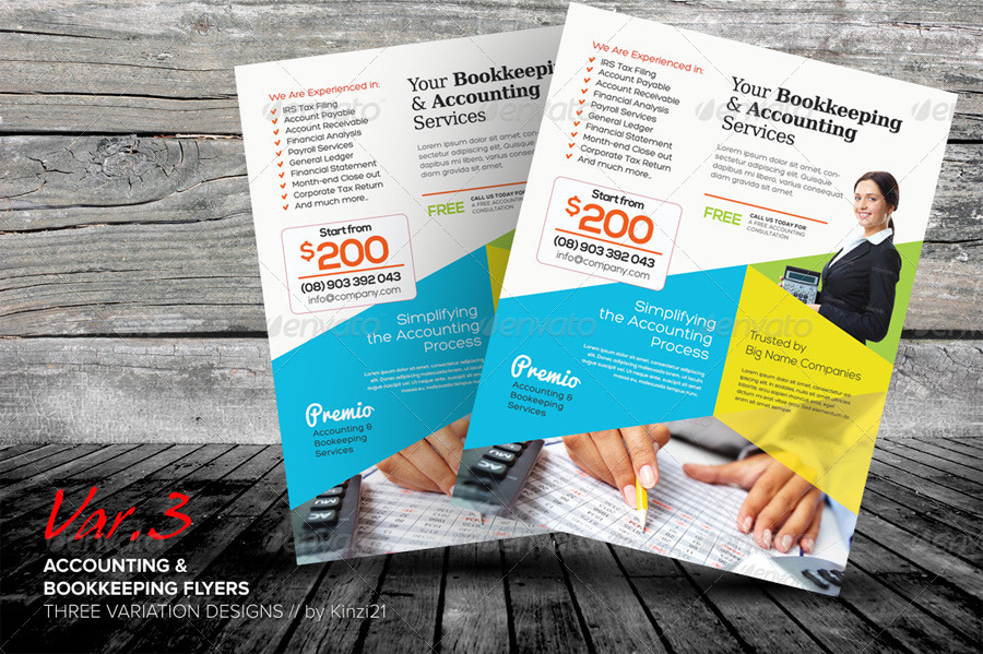 accounting and bookkeeping services flyers by kinzi21