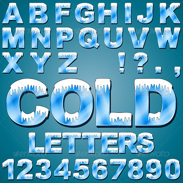GraphicRiver Ice Cold Letters 6516752