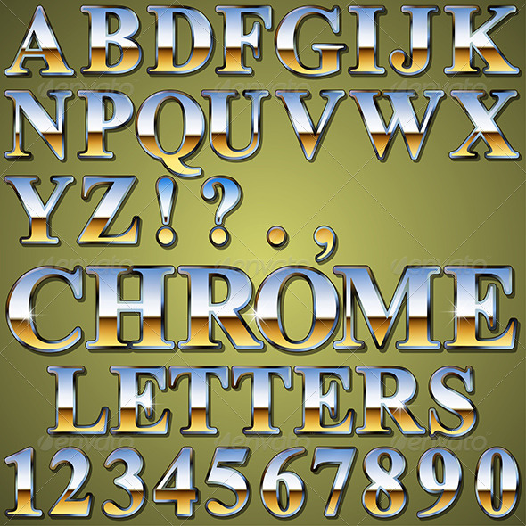 GraphicRiver Chrome Metal Letters 6516756