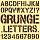 Grunge Stencil Letters - GraphicRiver Item for Sale