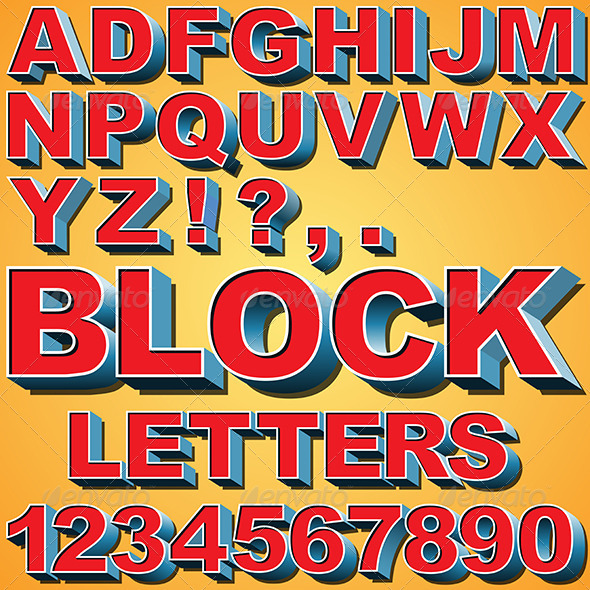 GraphicRiver 3D Block Letters 6516782