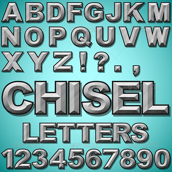 GraphicRiver Chiseled Letters 6516784