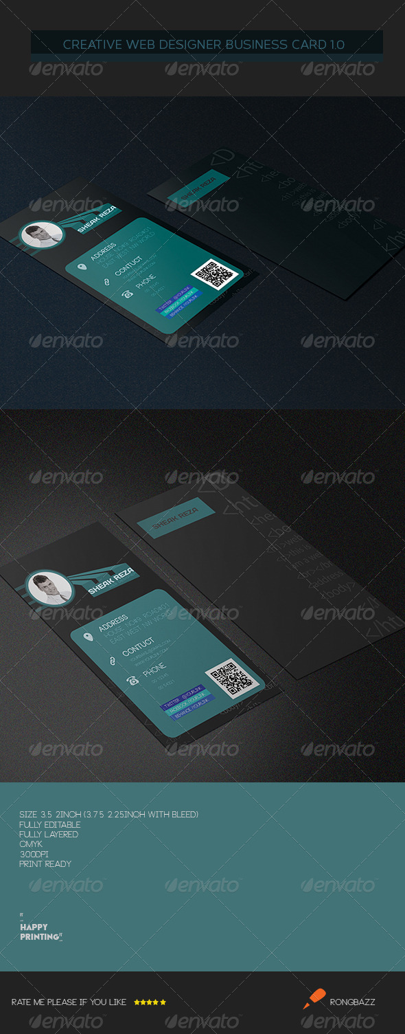 Creative Web Designer Business Card 3.0 - Creative Business Cards