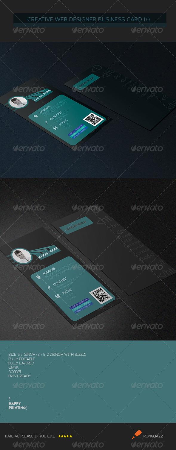 Creative Web Designer Business Card 3.0