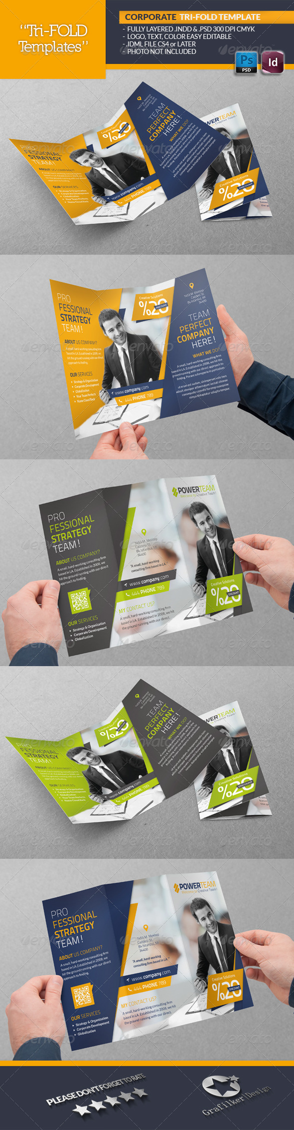 GraphicRiver Corporate Tri-Fold Template 6517089
