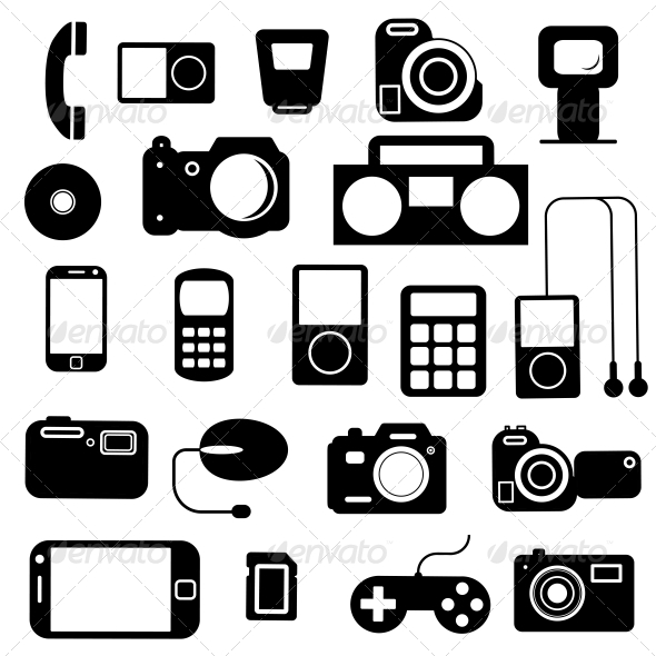 GraphicRiver Icon with Electronic Gadgets 6517153