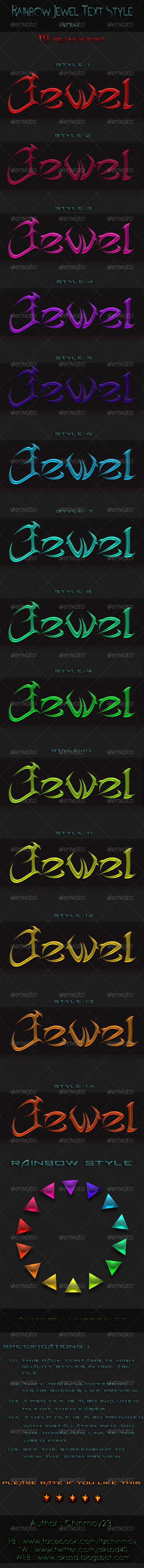 GraphicRiver Rainbow Jewel Text Style Vol-1 6513267